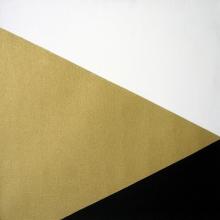 Diagonal-Schwarz-Gold-Weiß-Öl-Auf-Leinwand-40x40cm-1986-Nr-016