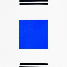 19-Edfu-blau2017Acryl-uf-Papier-21x62cm-