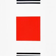 20Edfu-rot2017Acryl-auf-Papier-21x62cm