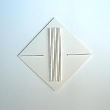 An-Mondrian-Weiß-Karton-Auf-Holz-Objekt-43x43cm-2012-Nr-085