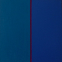 Momentlinie-Coelin-Rot-Ultramarin-Öl-Auf-Leinwand-120x120cm-2004-Nr-044133
