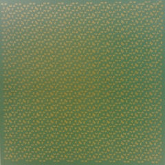 Struktur-Grün-Gold-Öl-Auf-Leinwand-100x100cm-1987-Nr-013a163