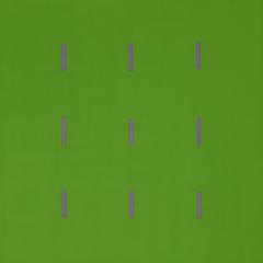 Yala-3x3-Grün-Violett-Acryl-40x40cm-2005-Nr-035187