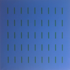 Yala-5x9-Ultramarin-Dunkelgrün-Acryl-90x90cm-2004-Nr-032205