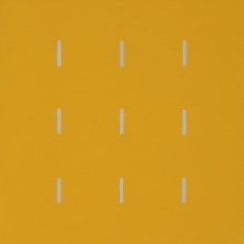 Yala-3x3-Gelb-Grau-Öl-2005-Nr-034185